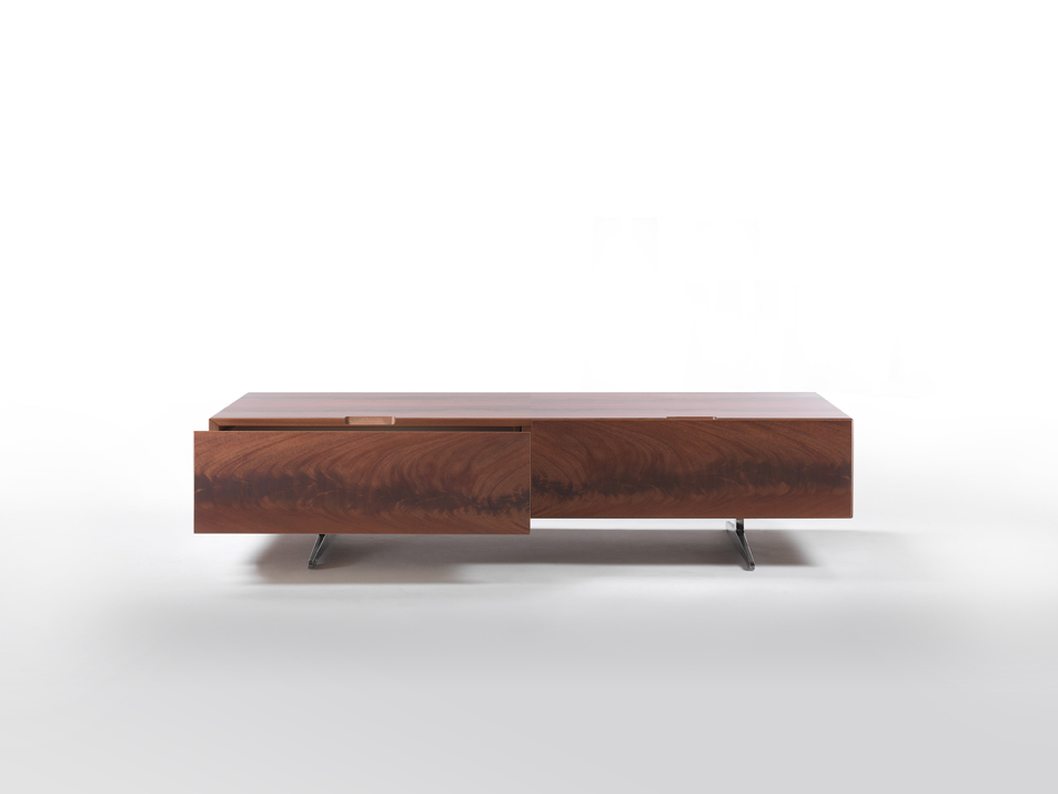 Piuma large coffee table with drawers